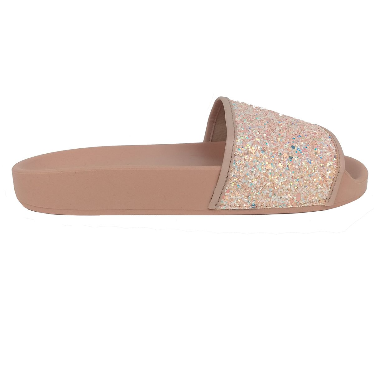 Chinelo Molekinha Feminino Glitter Rosa
