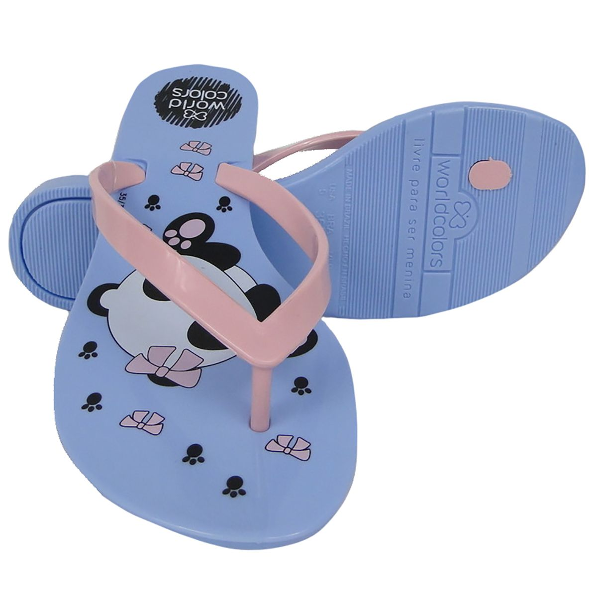 Chinelo World Colors Feminino Roxo Panda