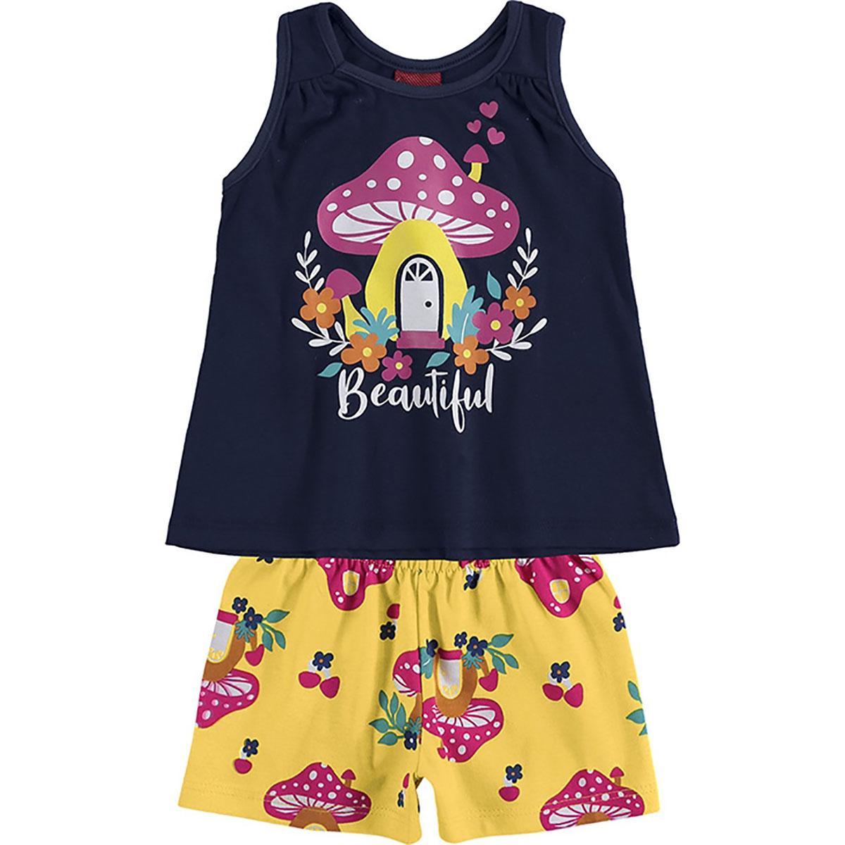 Kit de Conjuntos Bebe Kyly Meninas Verão