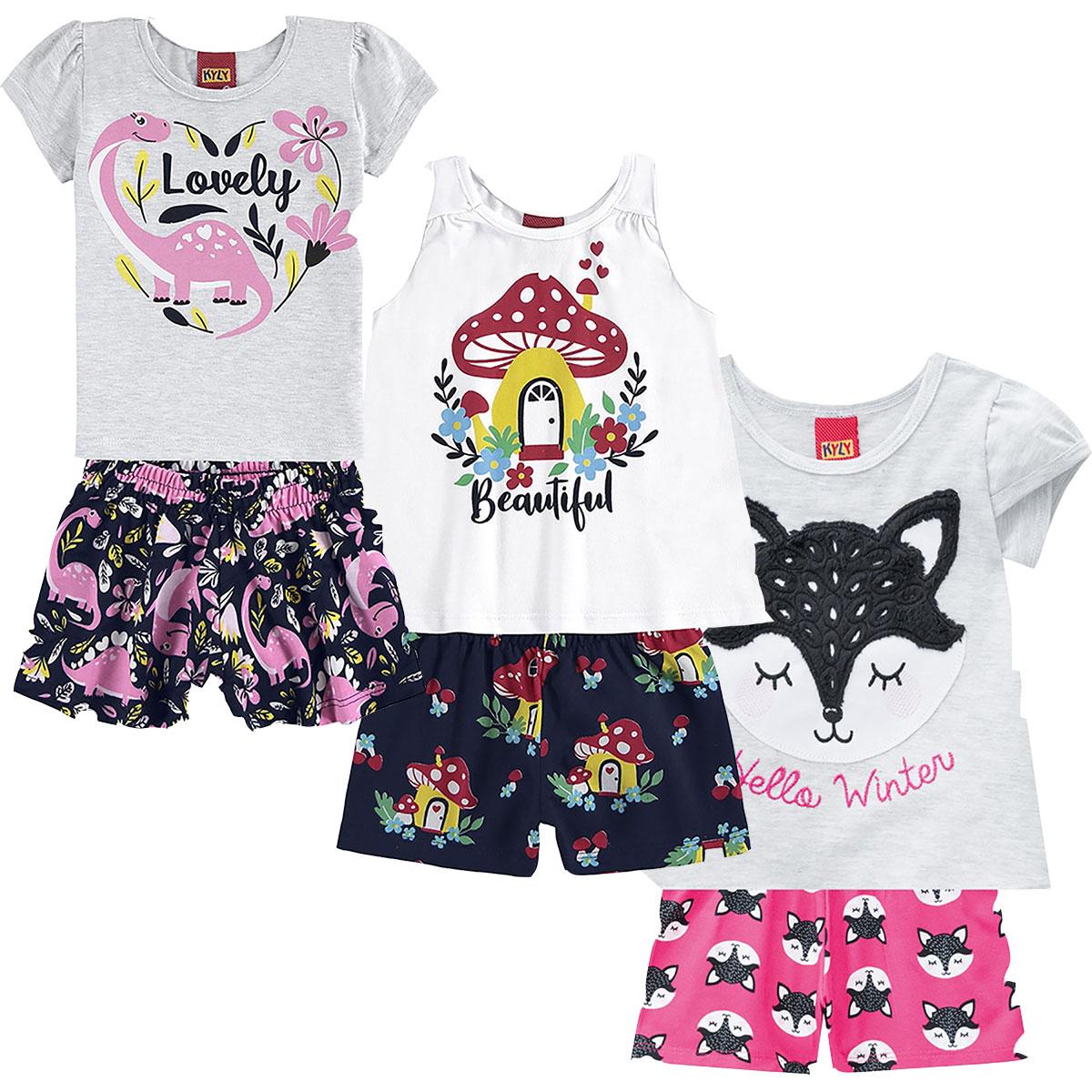 Kit de Conjuntos Bebe Meninas Kyly