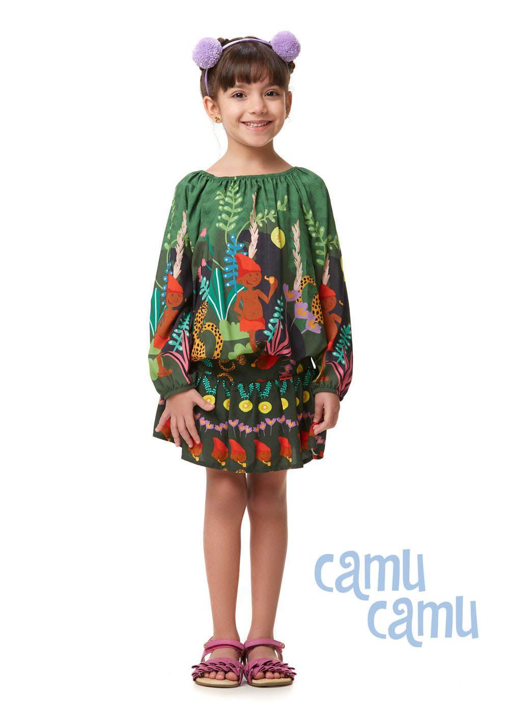 Conjunto Camu Camu Feminino Infantil Verde