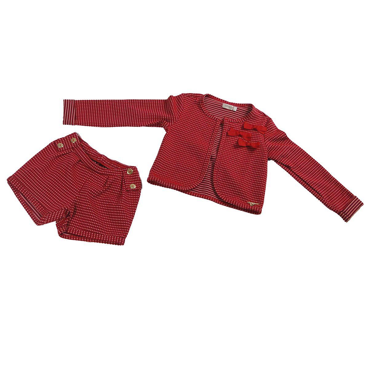 Conjunto Carinhoso Feminino Infantil Vermelho