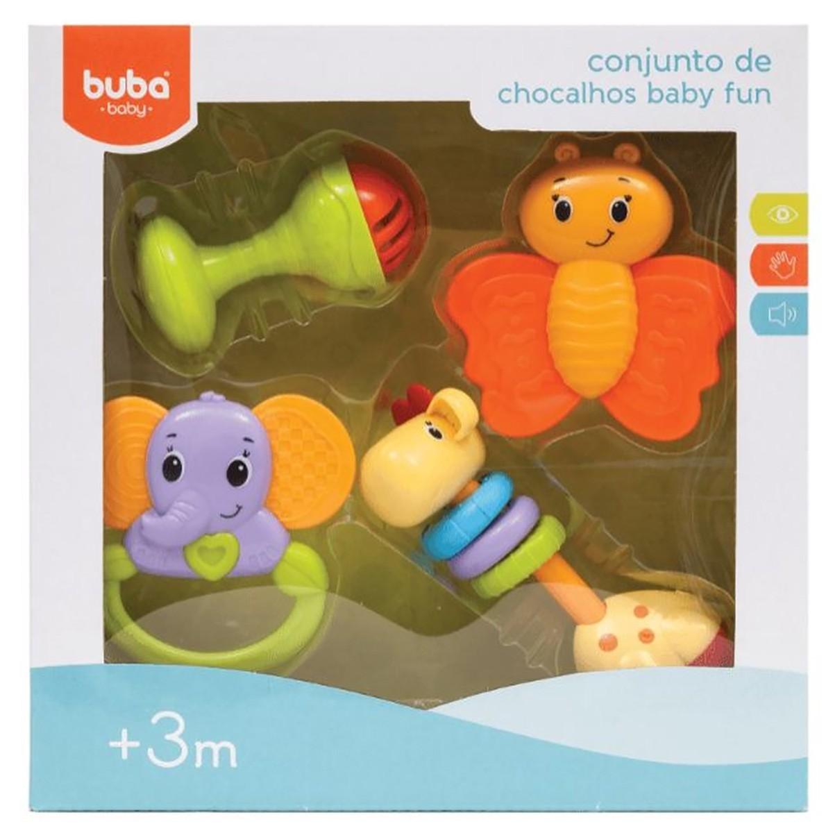 Conjunto de Chocalhos Buba Baby Fun 3m+