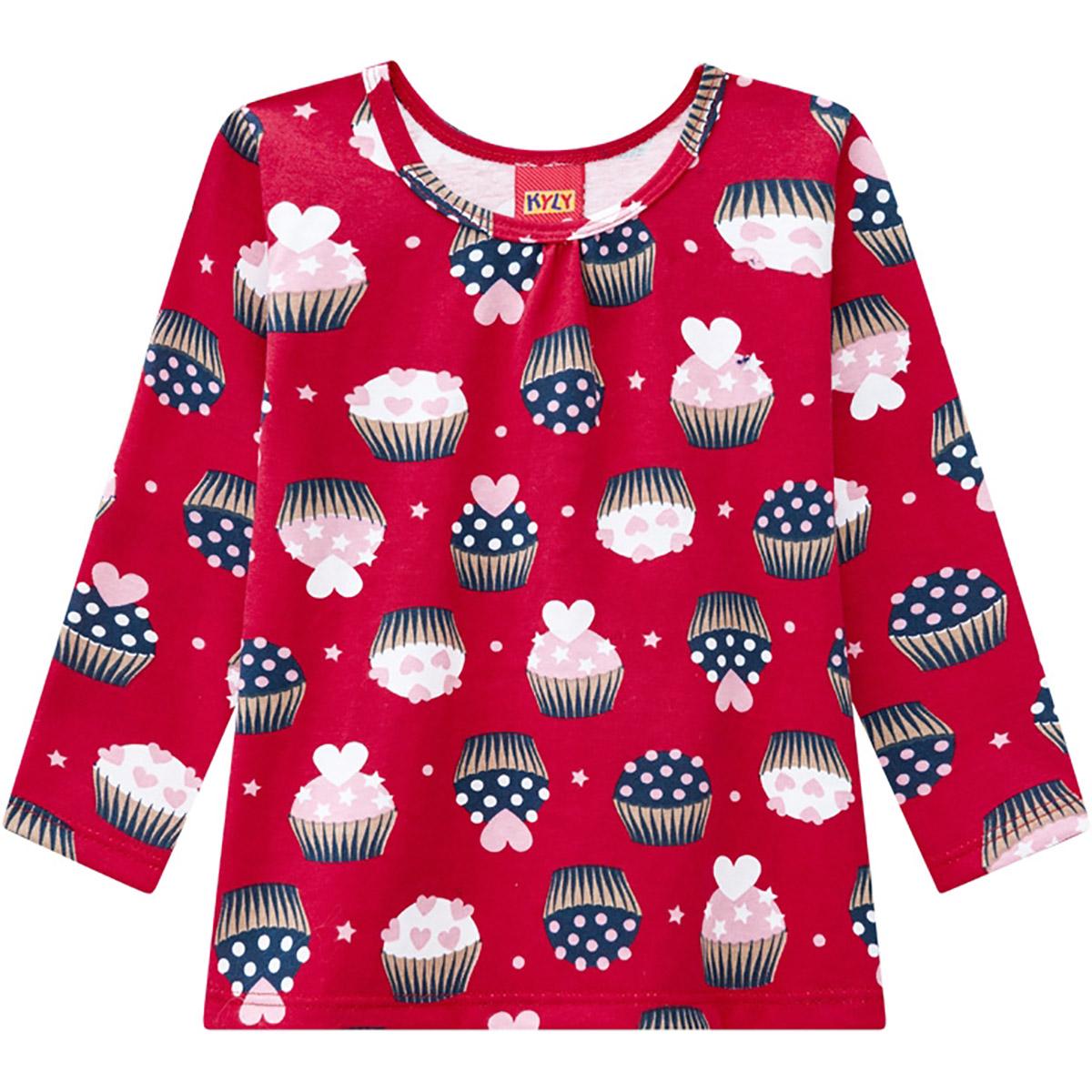 Conjunto Infantil Kyly Feminino Cupcake