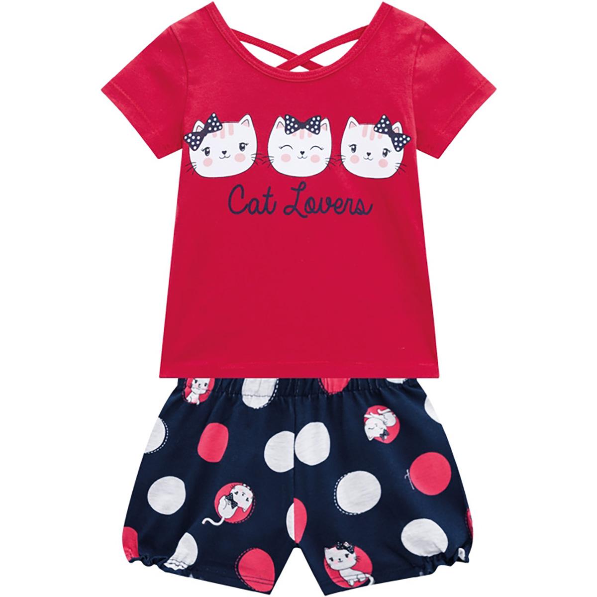 Conjunto Kyly Feminino Bebê Cat Lovers