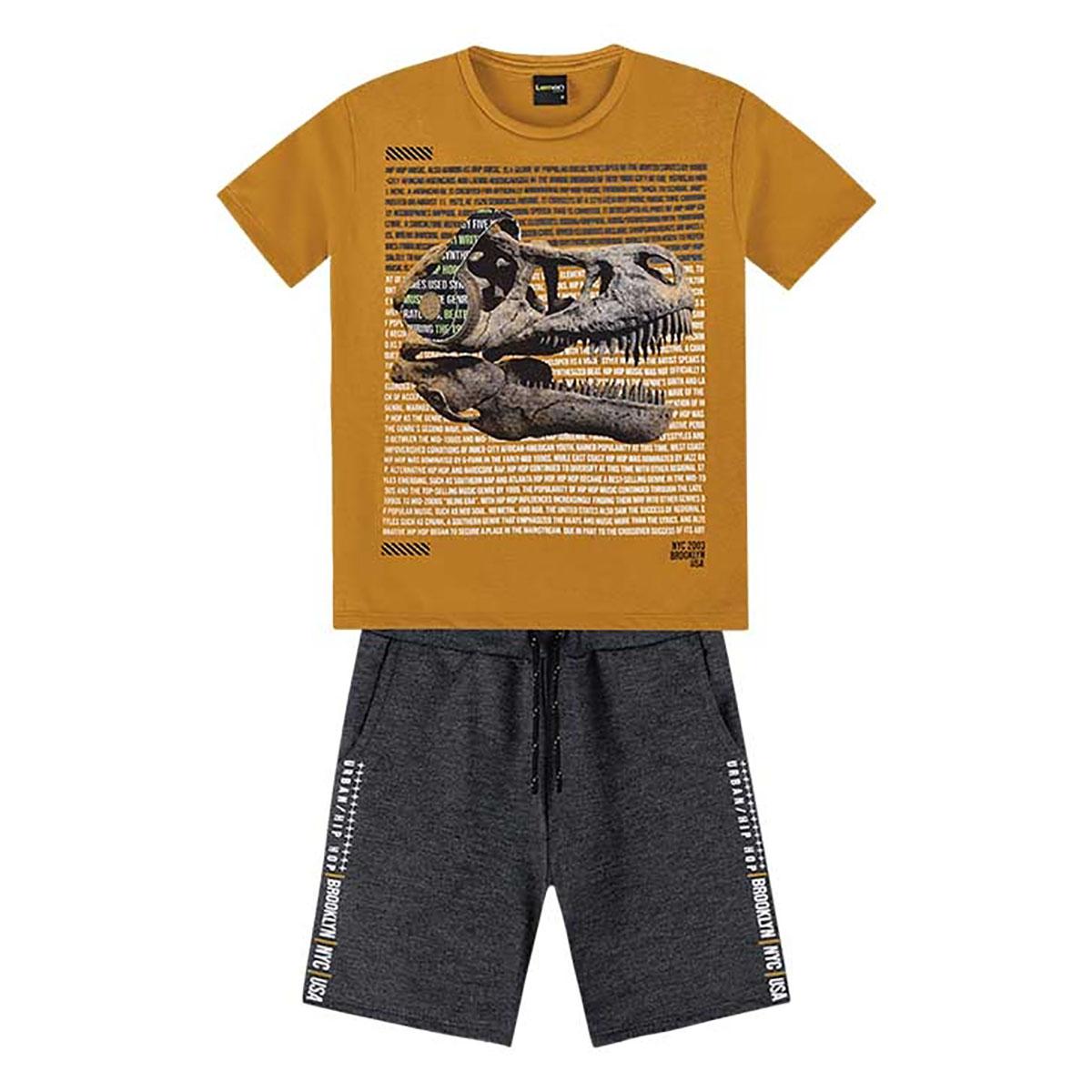 Conjunto Lemon Masculino Infantil Dinossauro