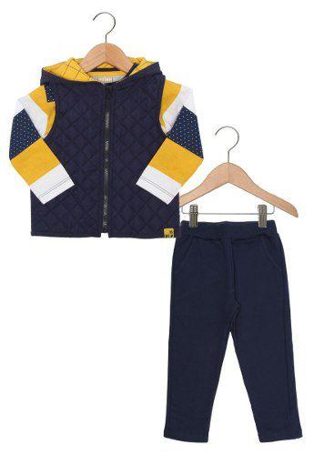Conjunto Milon Infantil Longo Menino Azul