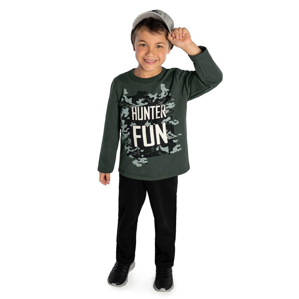 Conjunto Rovitex Masculino Verde Hunter Fun