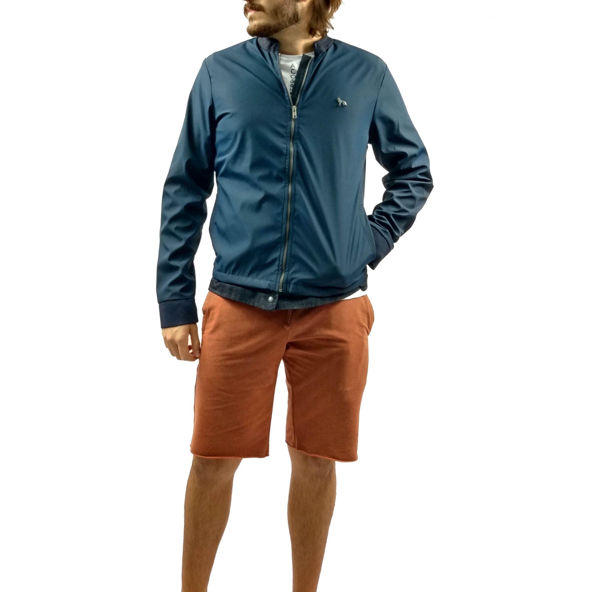 Jaqueta Masculina Acostamento Azul Marinho