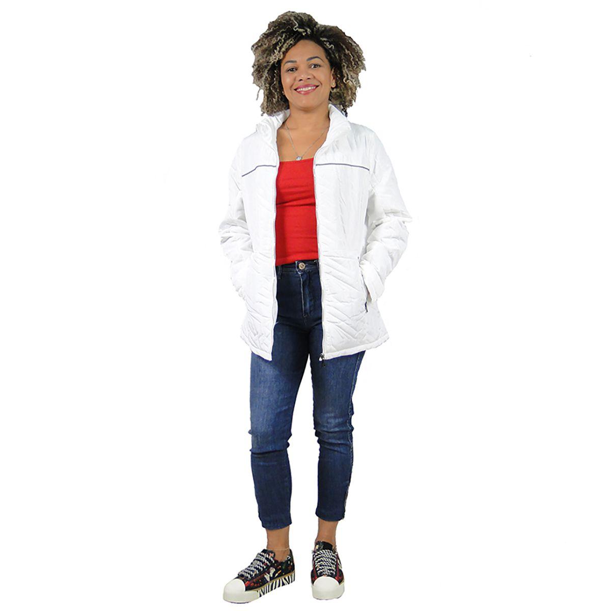 Jaqueta Queens Feminina Branca