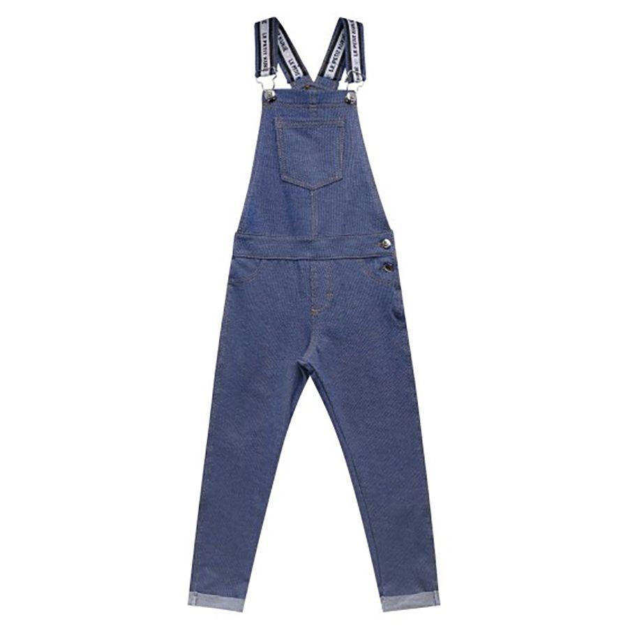 Jardineira Kukie Feminina Bebê Jeans Azul