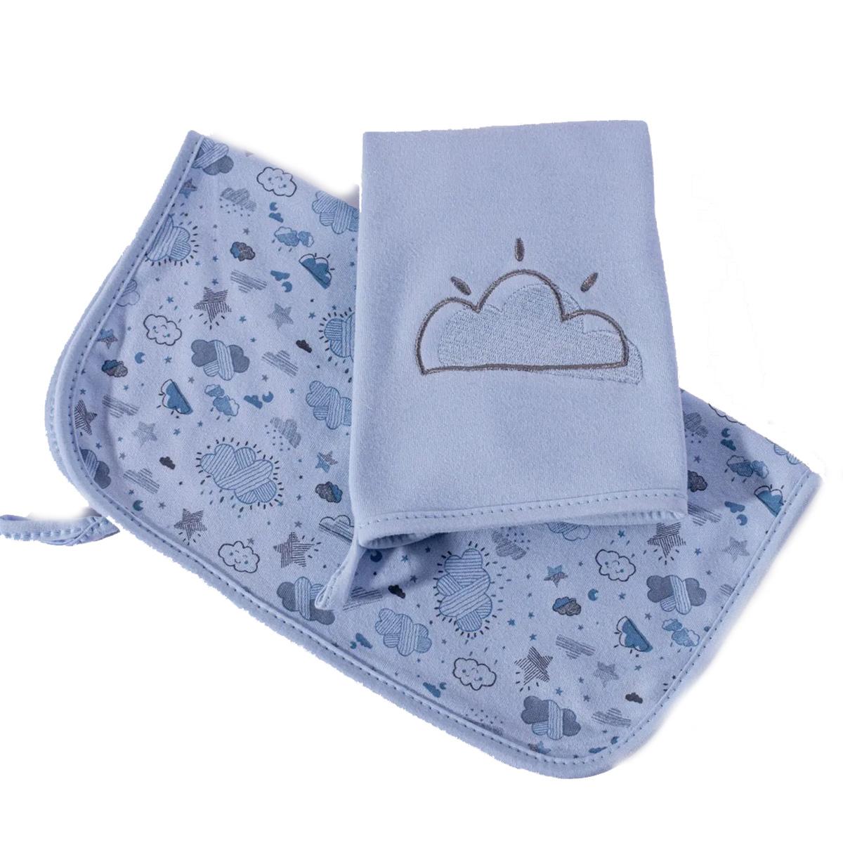 Kit Babinhas Hug Baby Névoa Azul