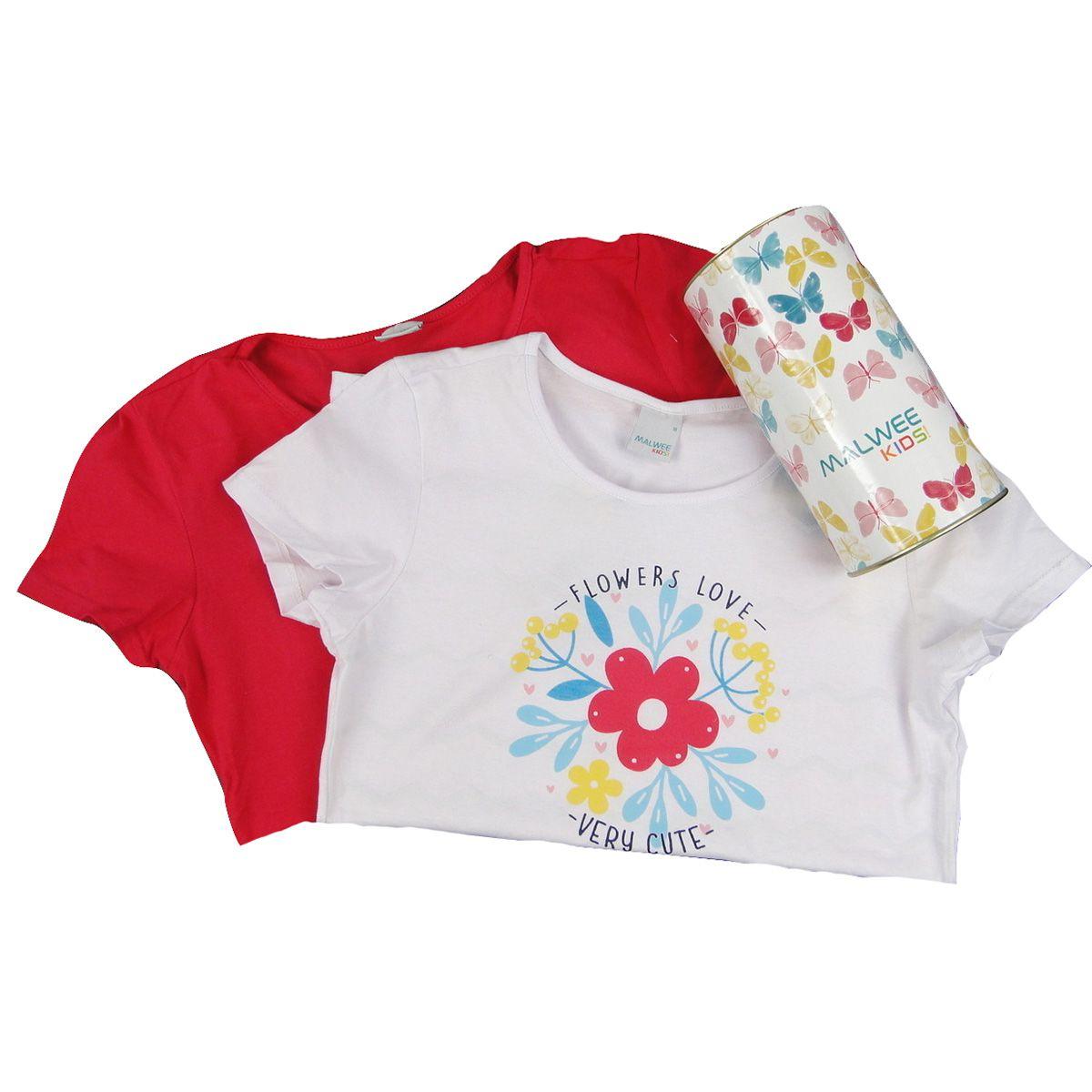 Kit com 2 Blusas Malwee Femininas Flores