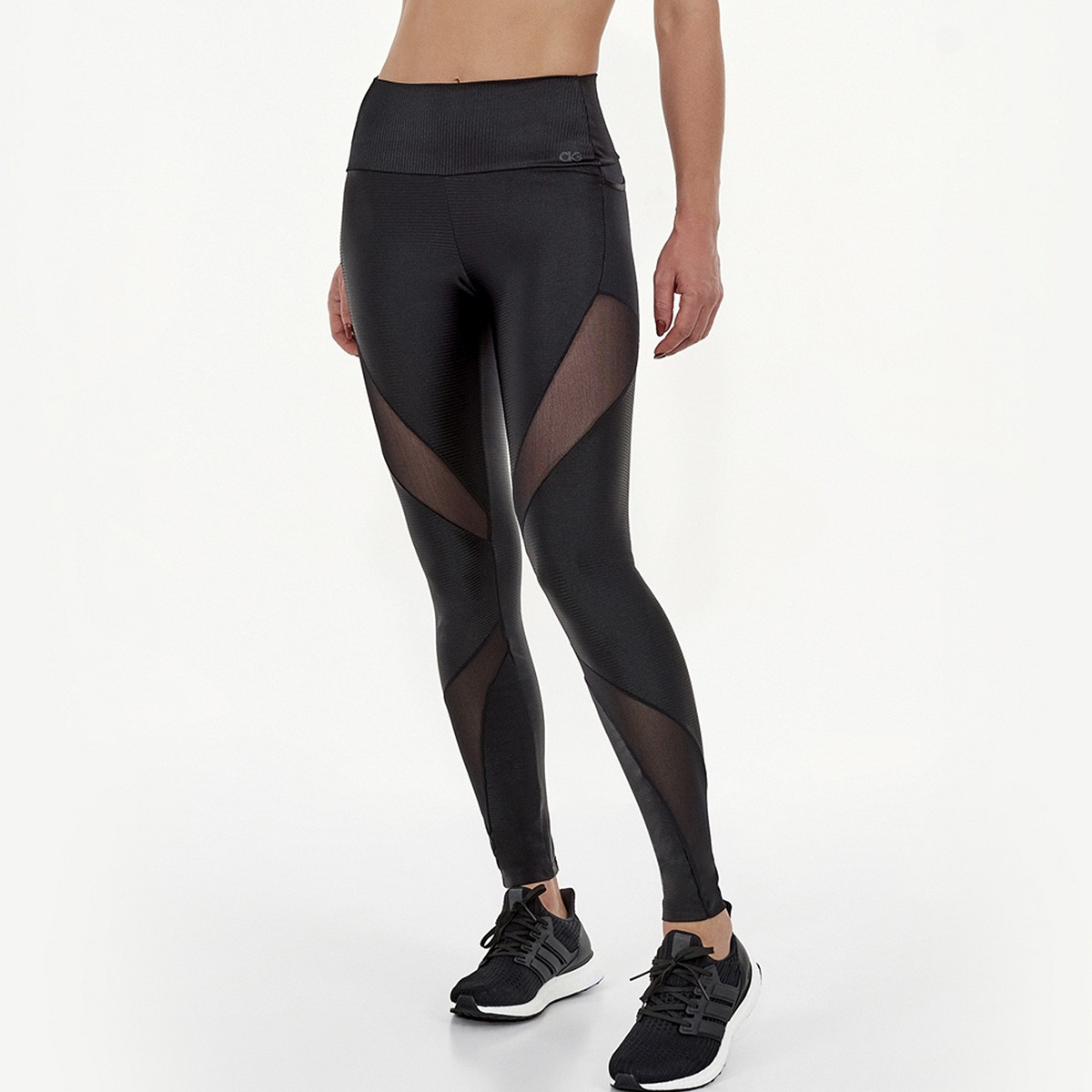 Legging Alto Giro Canelado Power Screen Clippings