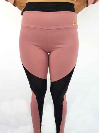 Legging Alto Giro Light Plus Rosa