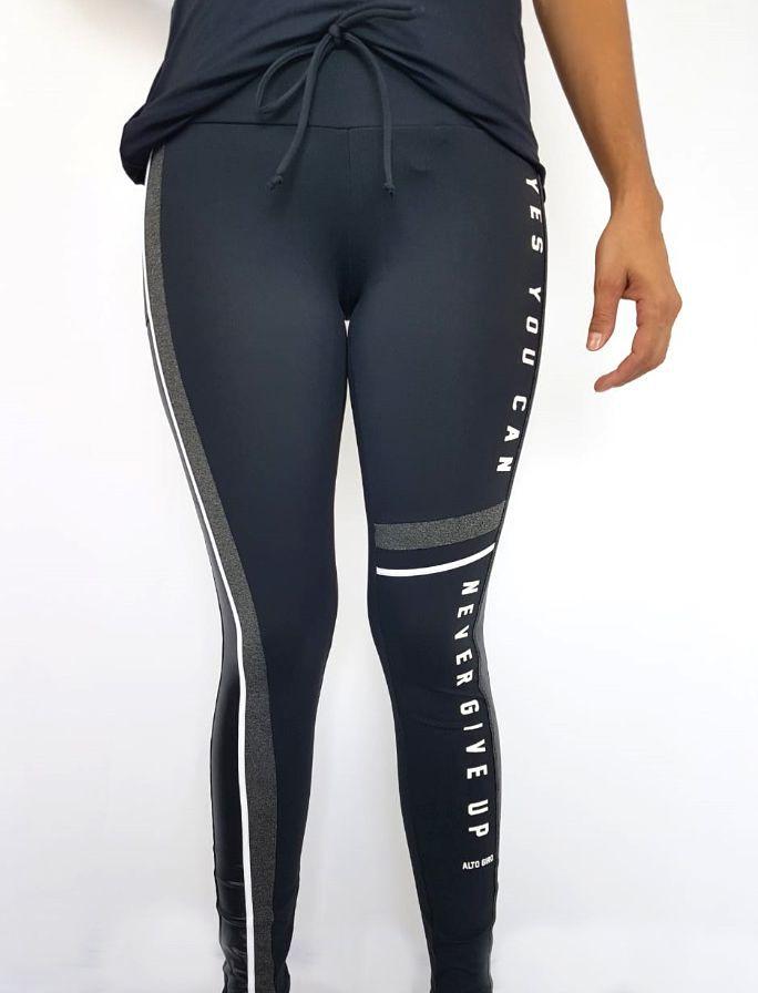 Legging Feminina Alto Giro Athletic Preta  - Pick Tita