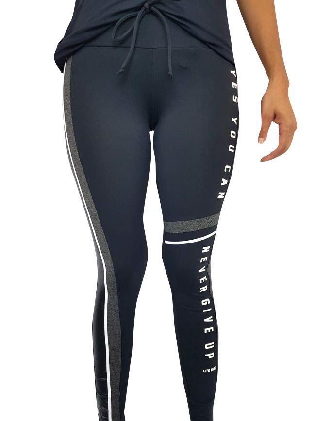 afd85b042 Legging Feminina Alto Giro Athletic Preta