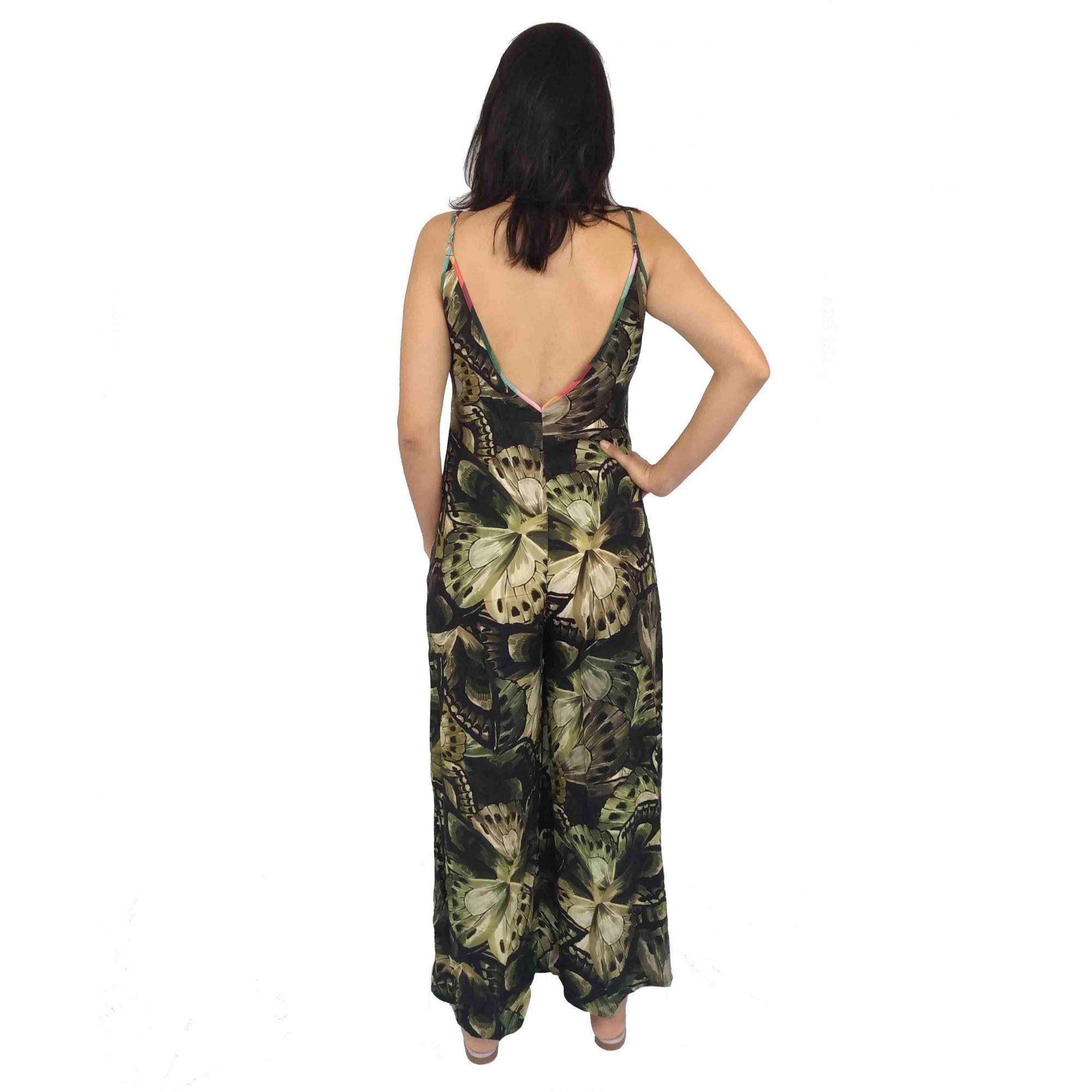 Macacão Farm Feminino Folhas