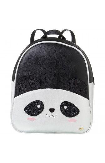 Mochila Infantil Pampili Zoo Panda Branco/Preto