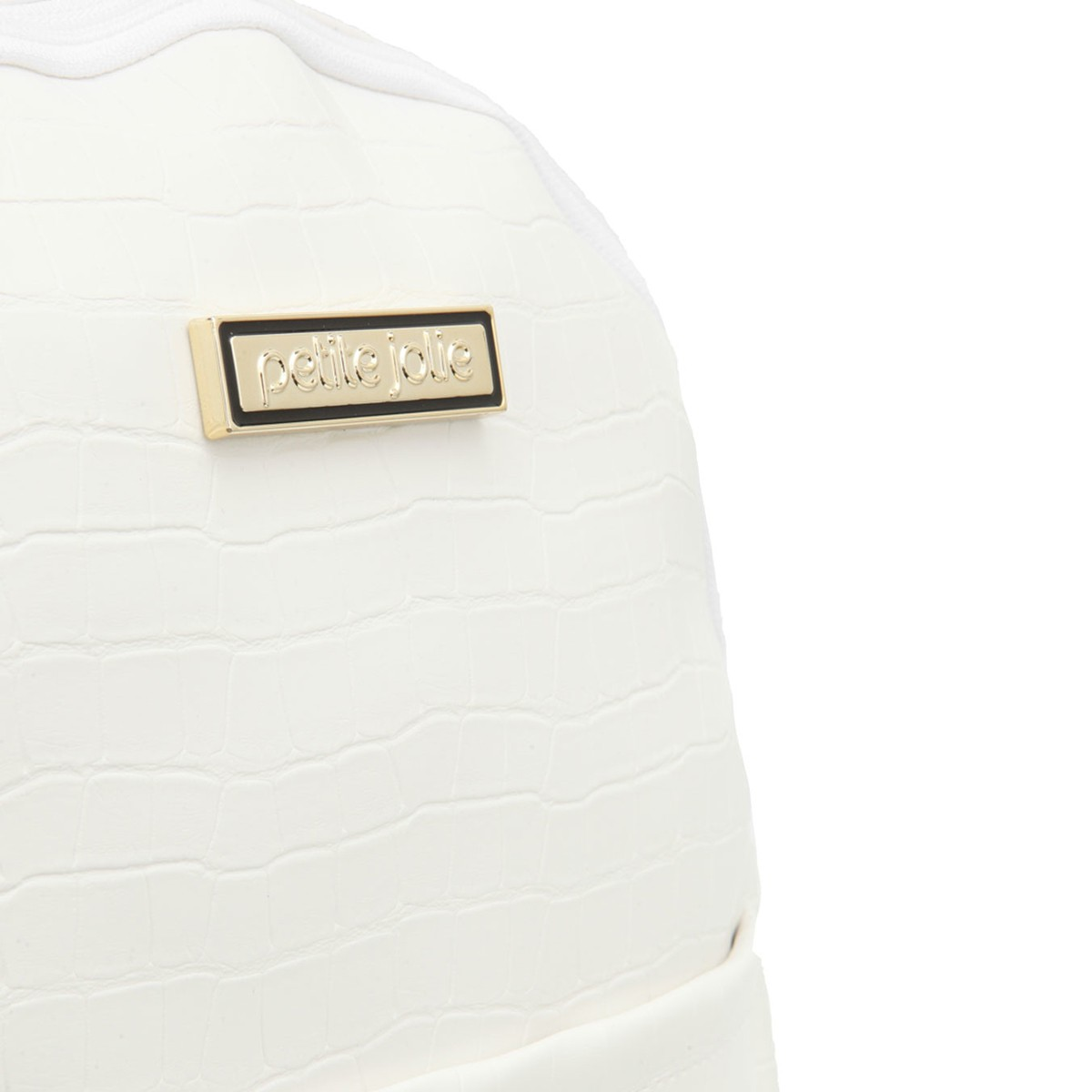 Mochila Petite Jolie PJ4253 Croco Branca