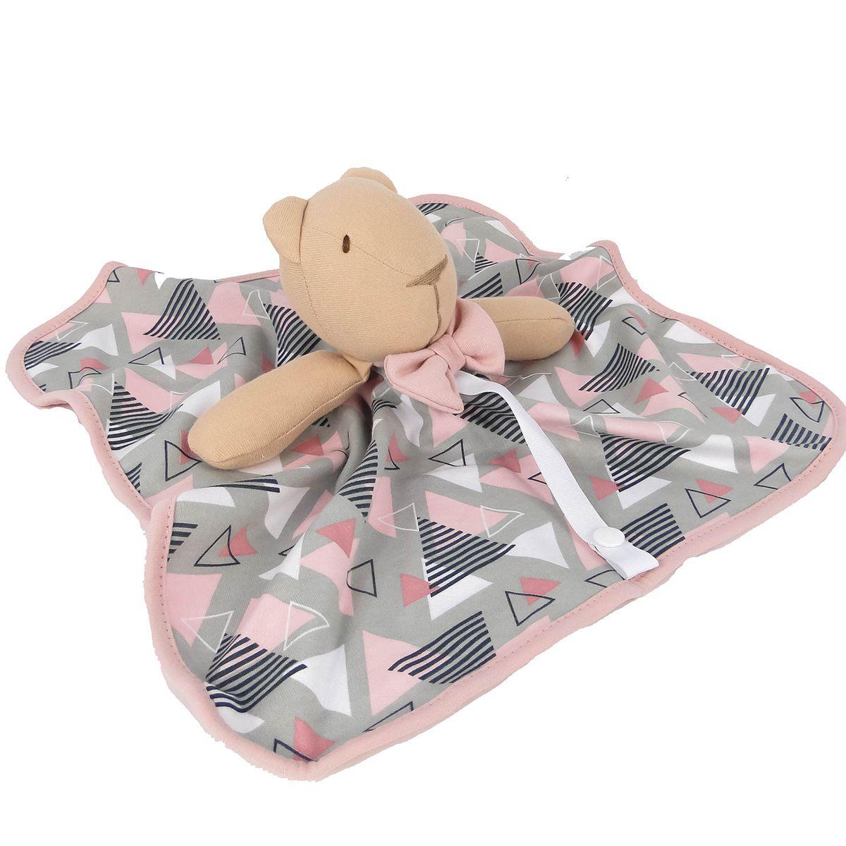 Naninha Hug Baby Bear Madri Triangulos Rosa ou Azul E12708