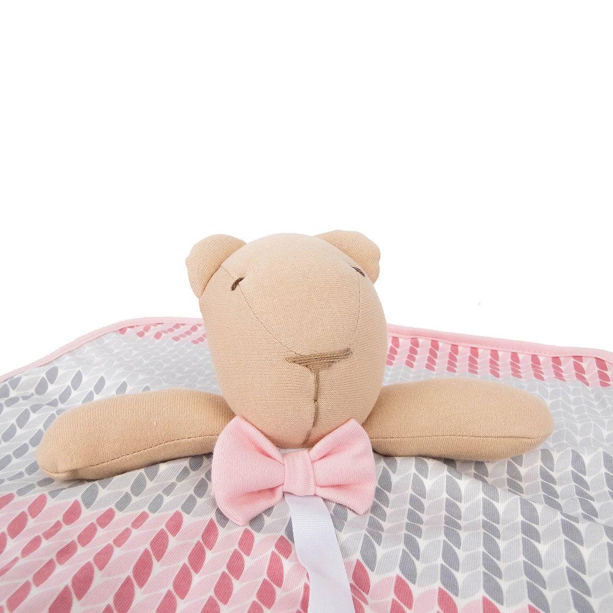Naninha Hug Baby Bear Menino e Menina Azul e Rosa Folhagem E12408