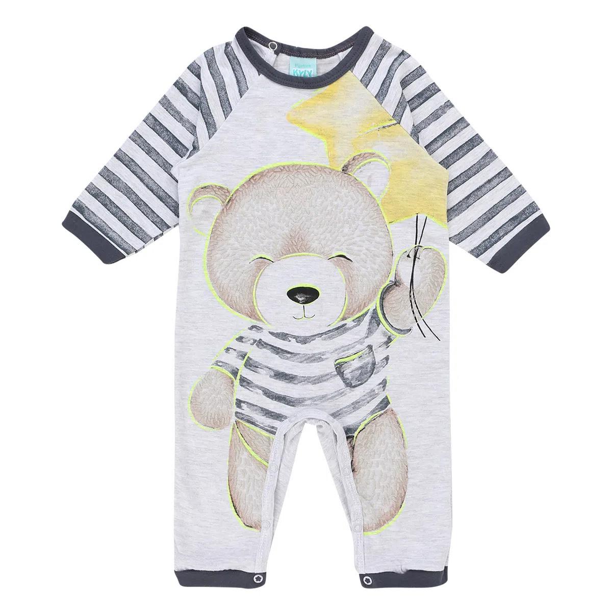Pijama Macacão Kyly Em Meia Malha Estampa Urso