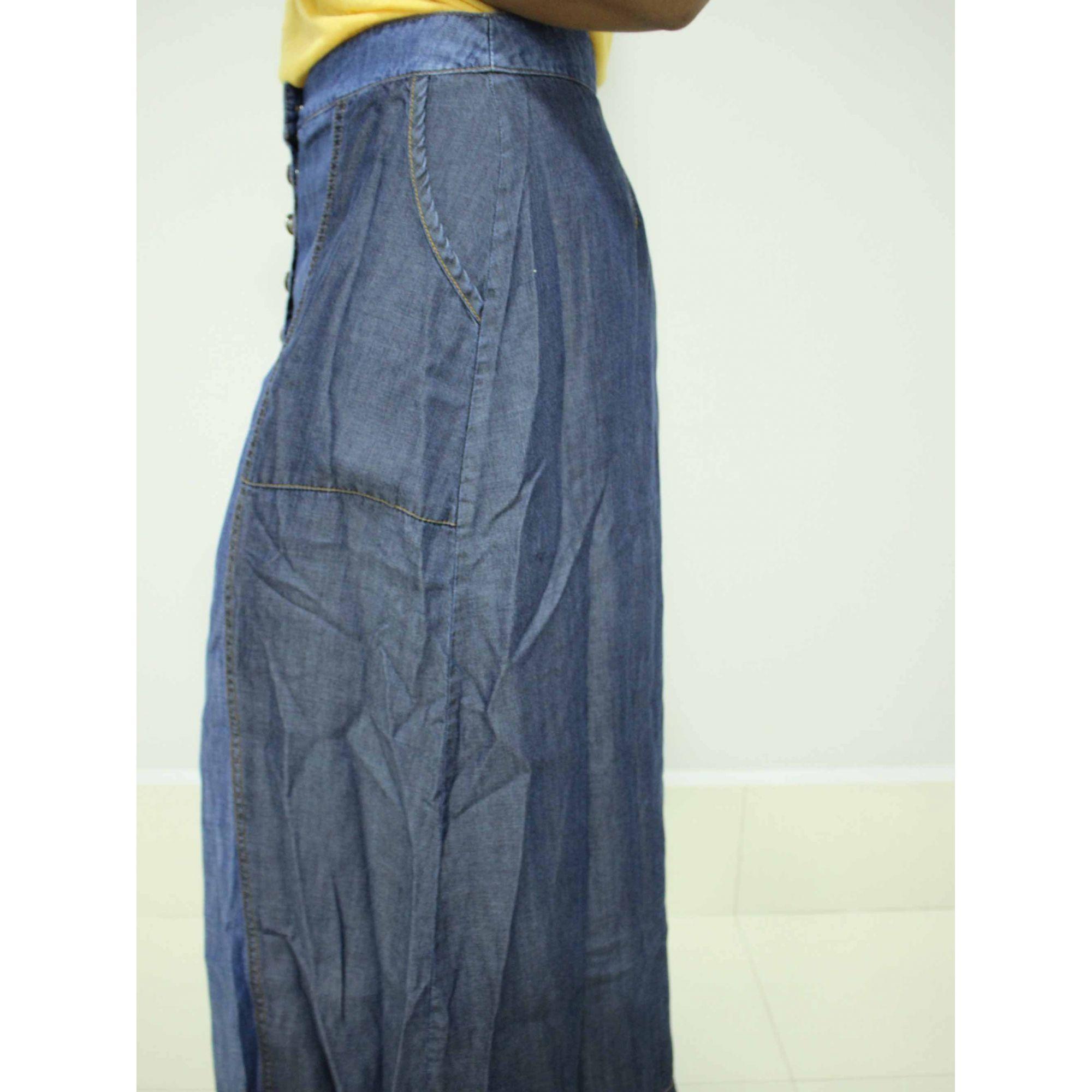 Saia Reserva Natural Jeans Azul  - Pick Tita