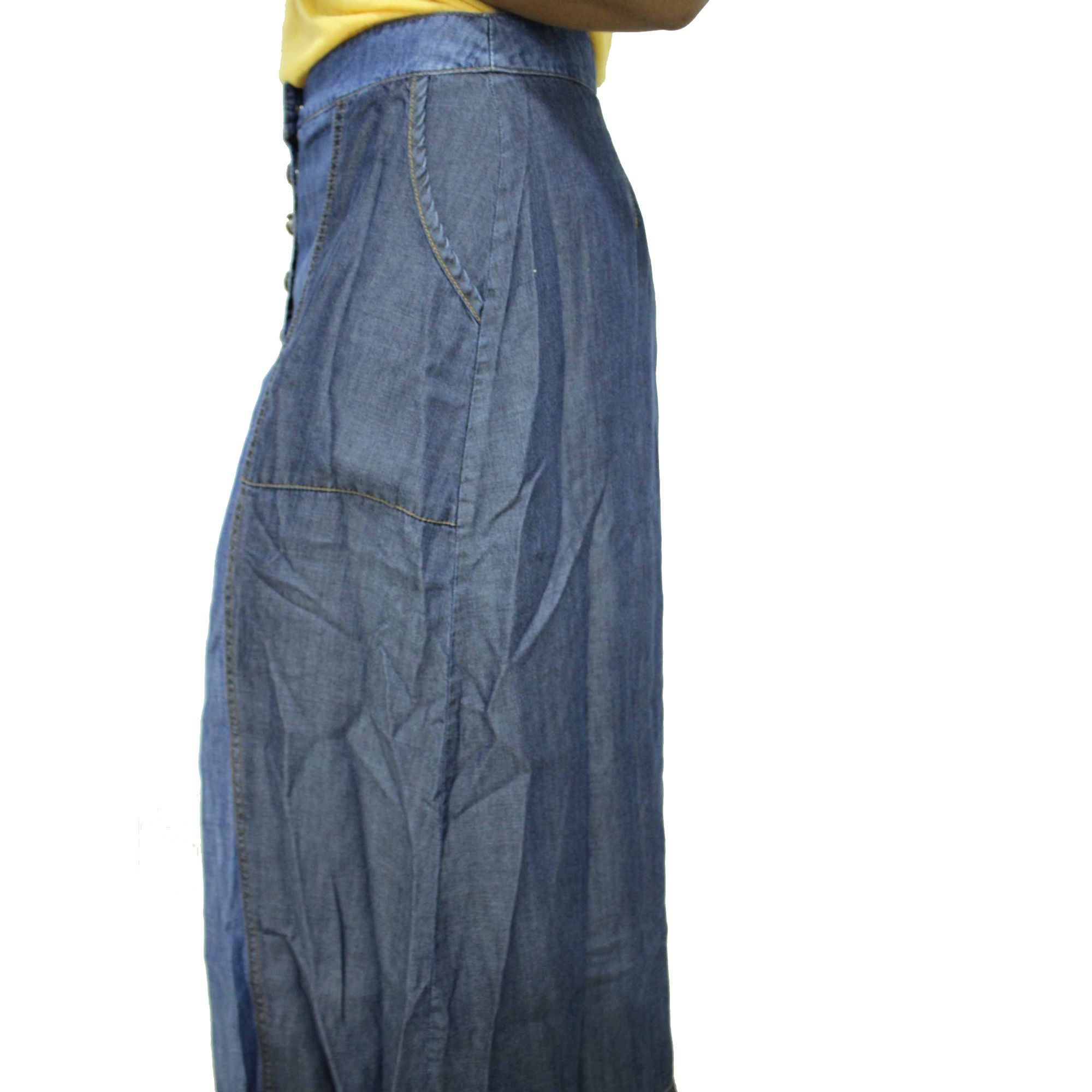Saia Reserva Natural Jeans Azul