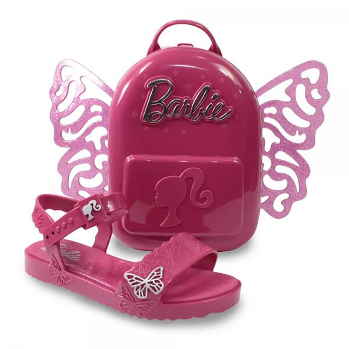 Sandalia Grendene Barbie Butterfly Bolsa Brinde