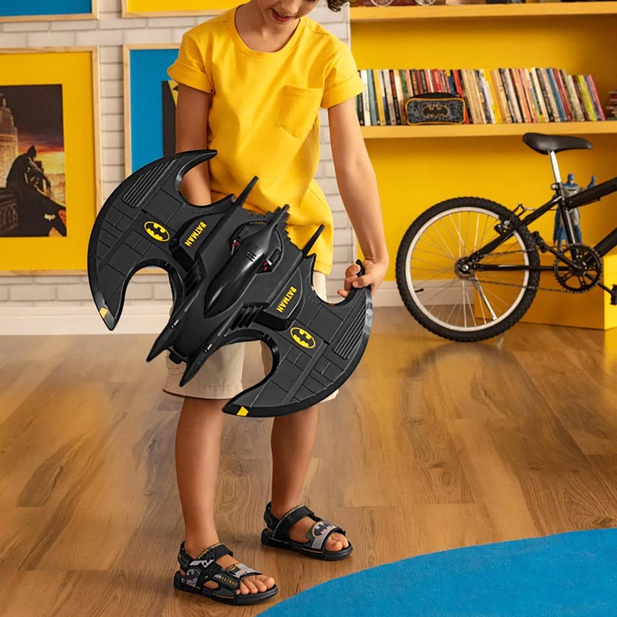 Sandalia Grendene Masculina Batman Batwing Preta