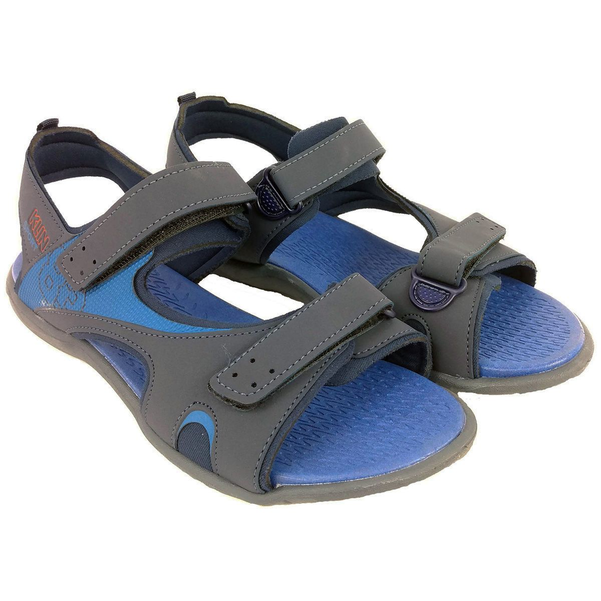 Sandália Klin Masculina Sport Preto e Azul