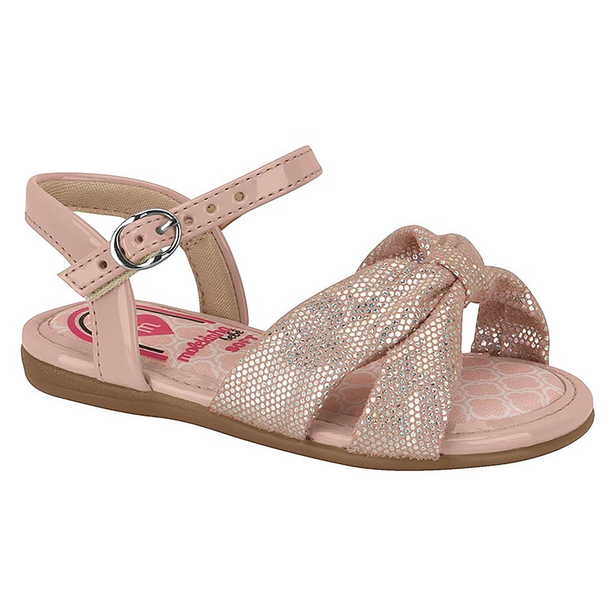 Sandalia Molekinha Feminina Diamantes Premium