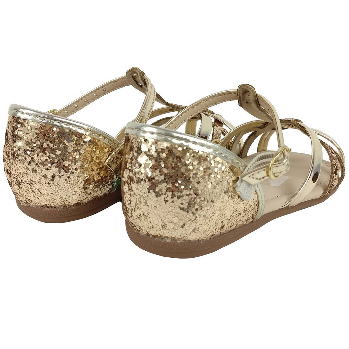 Sandalia Molekinha Feminina Soft Dourada