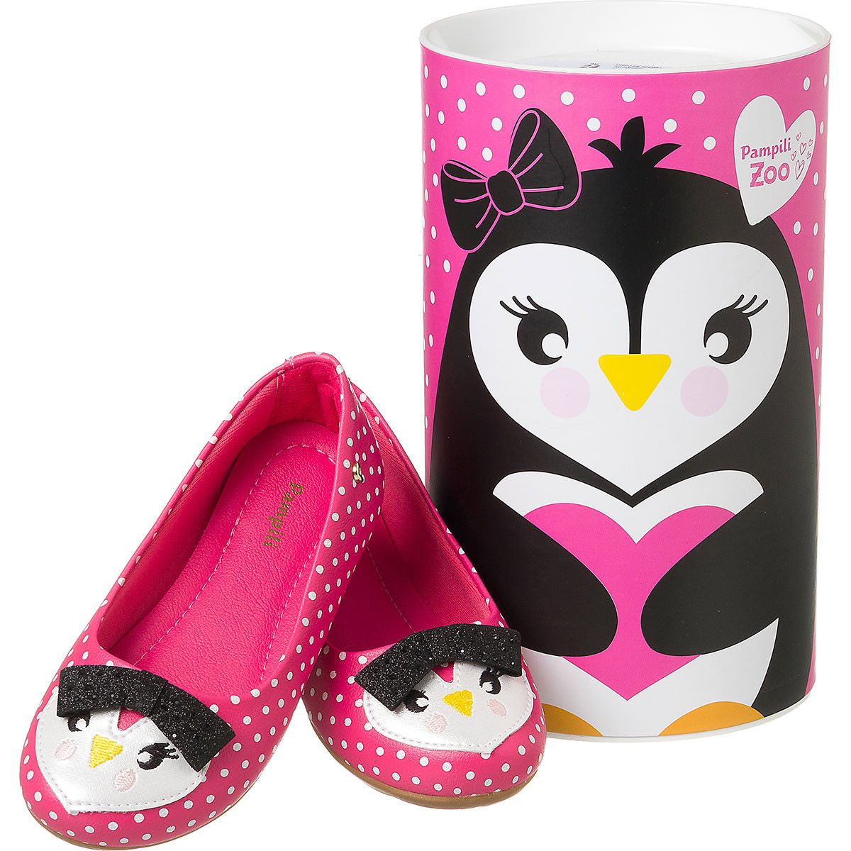 Sapatilha Pampili Pinguim Feminina Rosa