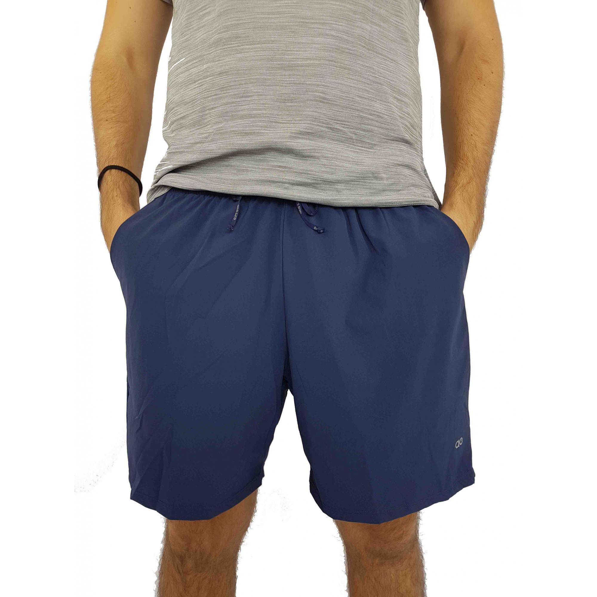Shorts Alto Giro Masculino Elastic Bolso Skin Fit