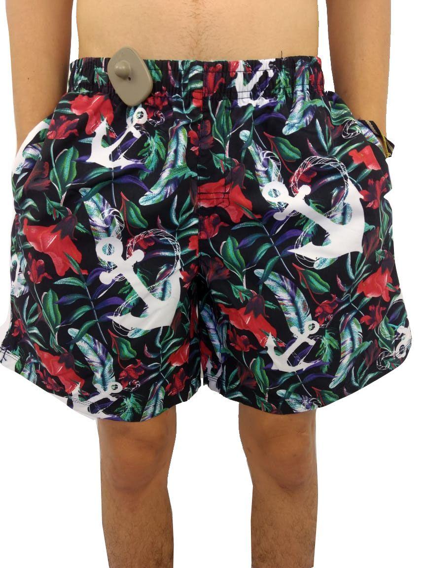 Shorts YachtMaster Masculino Estampado Ancora