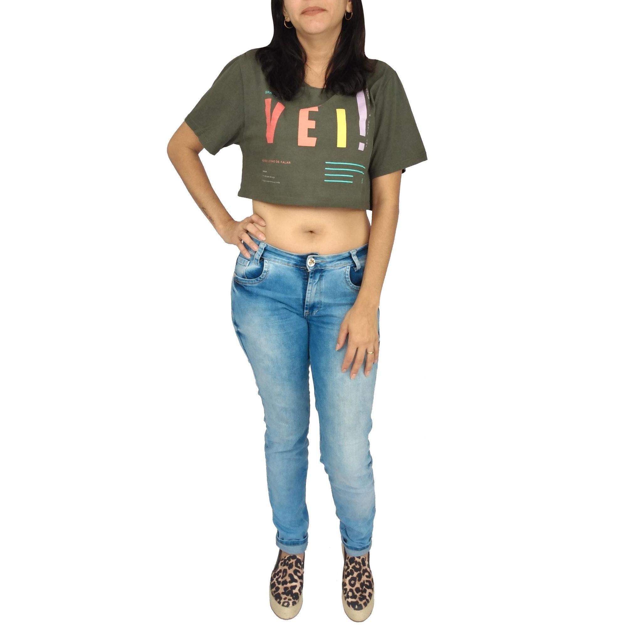 Camiseta Farm Cropped Vei