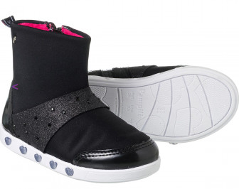 fe1609e1c84eba Bota Infantil Pampili Sneaker Preta Led