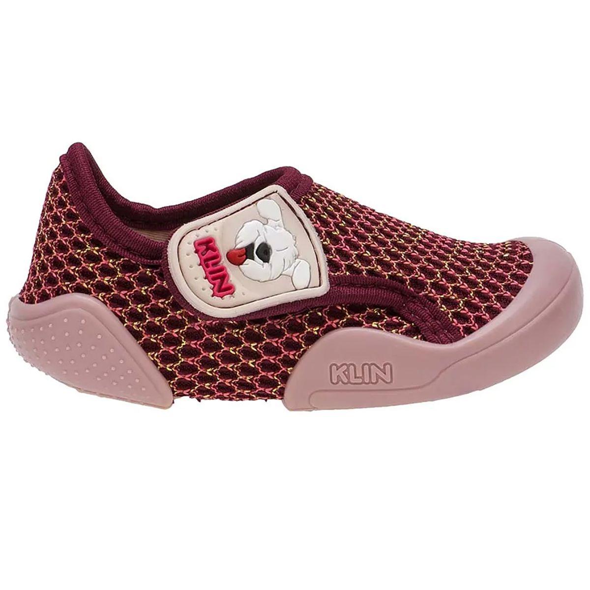 Tênis Klin Infantil New Confort Rosa
