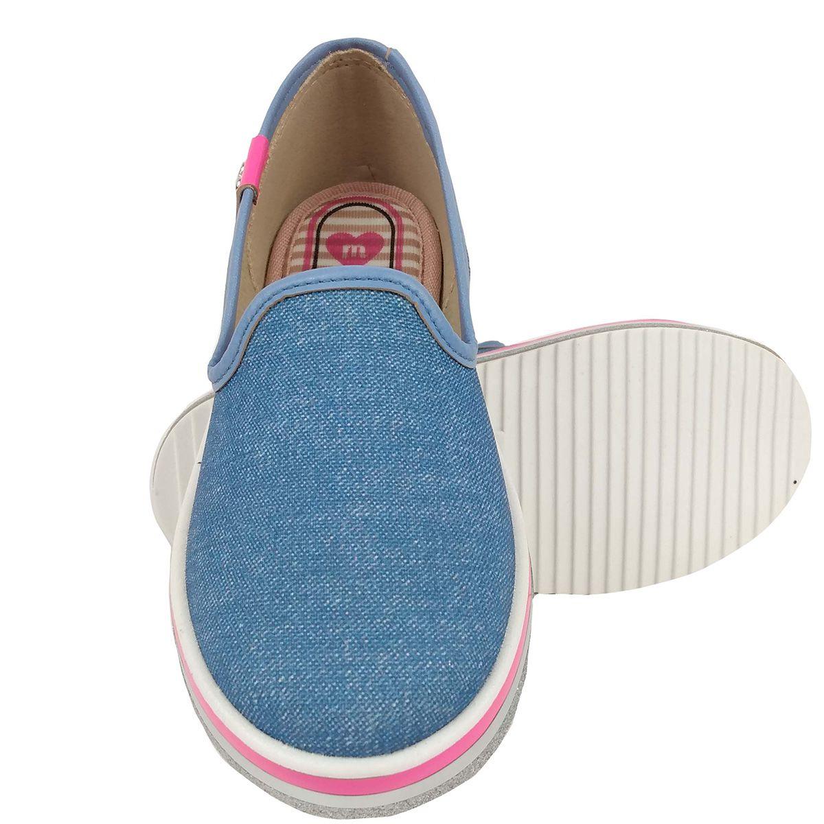 Tênis Molekinha Feminino Slip On Jeans
