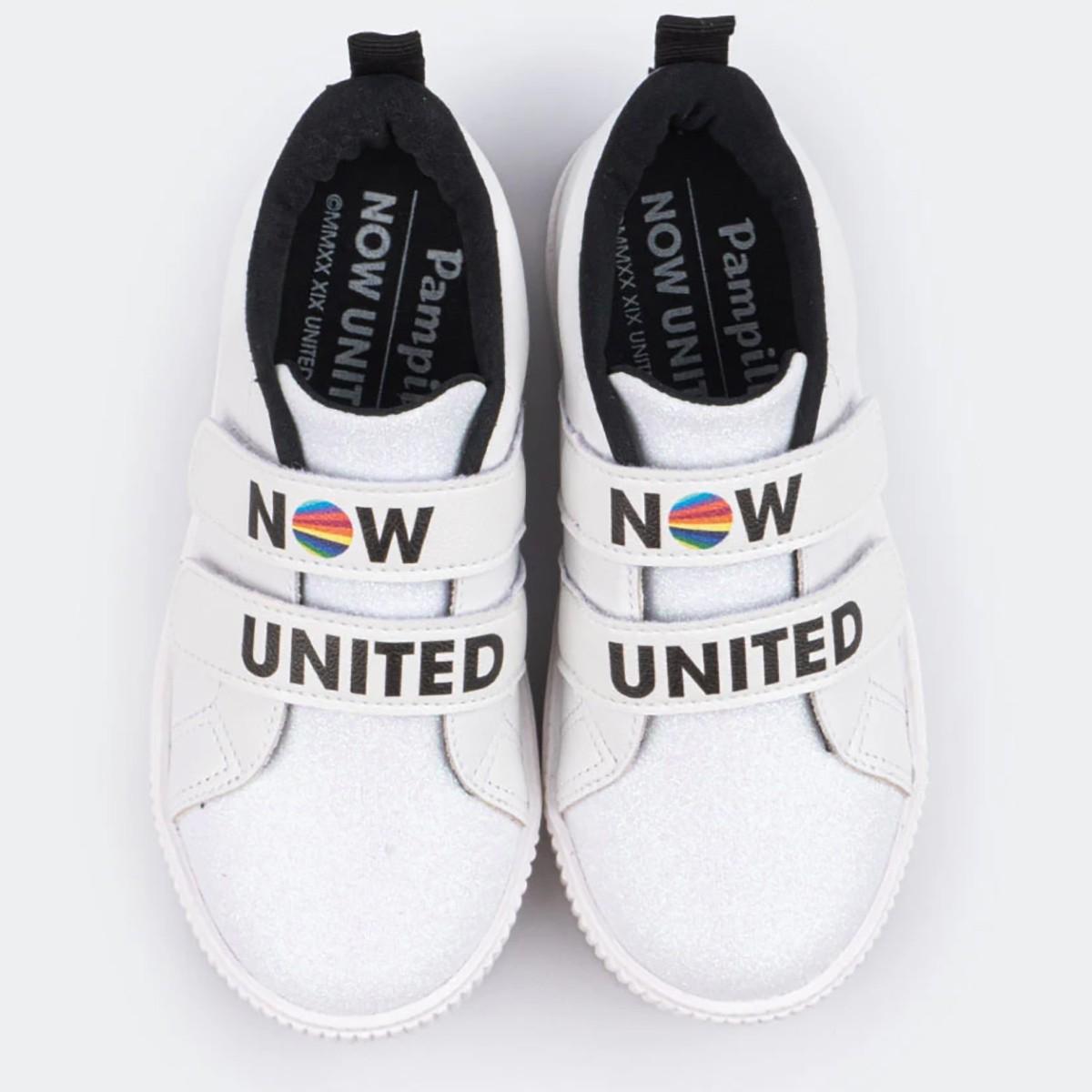 Tenis Pampili Now United Luna Velcro Branco