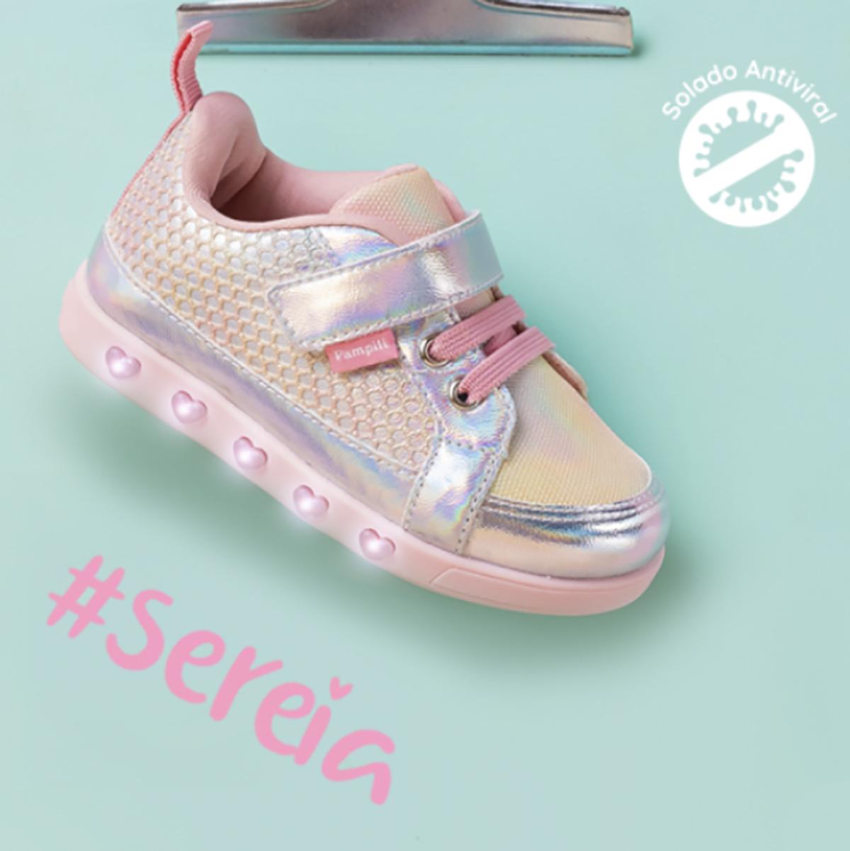Tenis Pampili Sneaker Luz Led Sereia