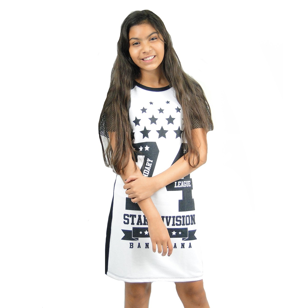 Vestido Bana Bana Infantil Star Division