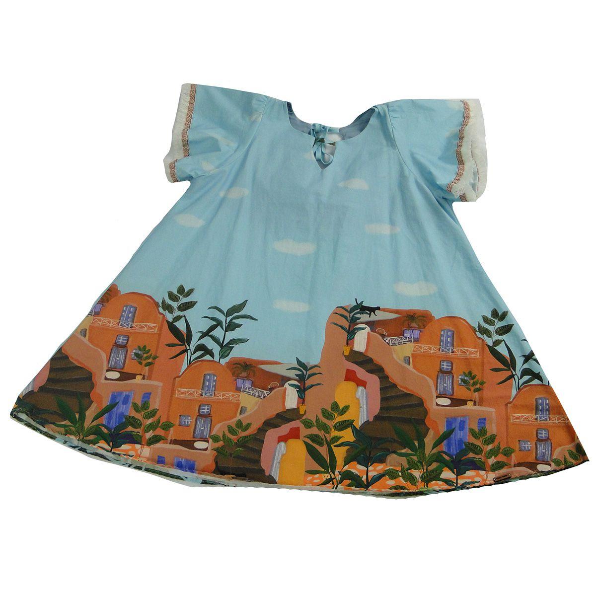 Vestido Camu Camu Feminino Infantil Azul