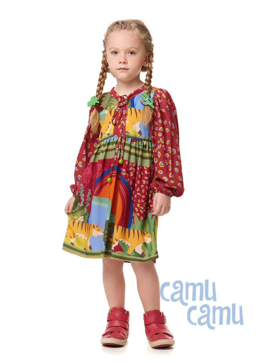 Vestido Camu Camu Curto Feminino Tigre