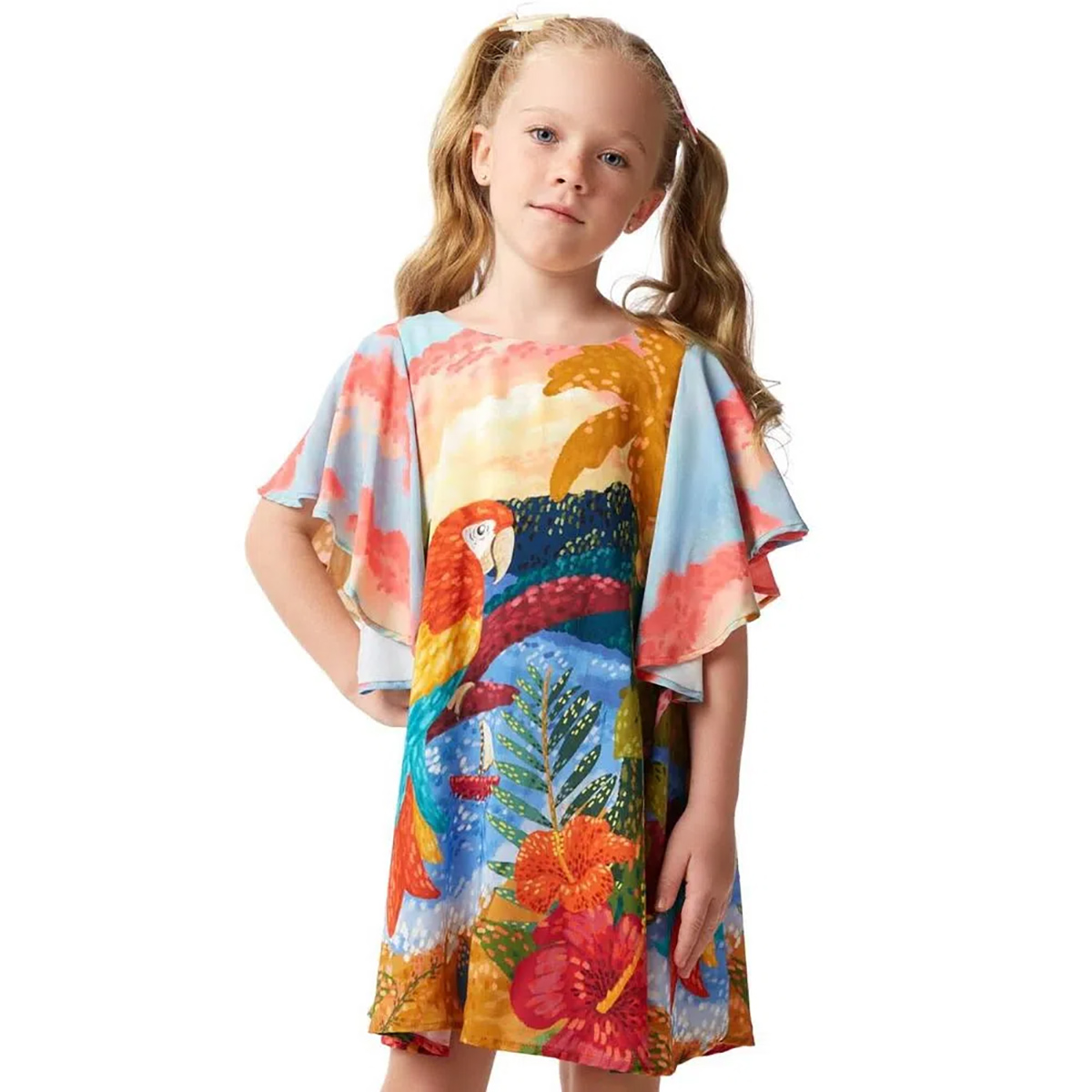 Vestido Camu Camu Feminino Aquarela Arara