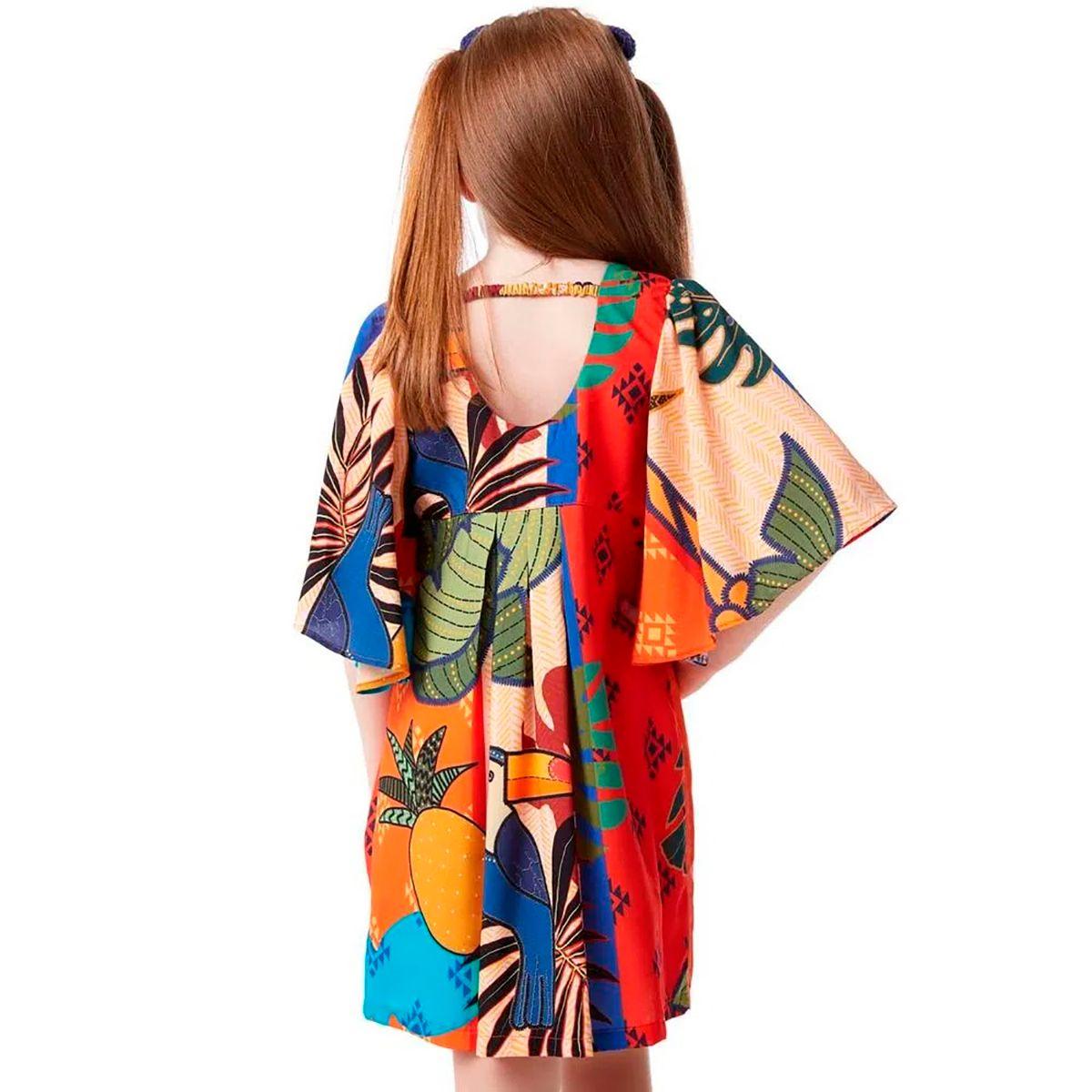 Vestido Camu Camu Feminino Boho Pomar Tropical