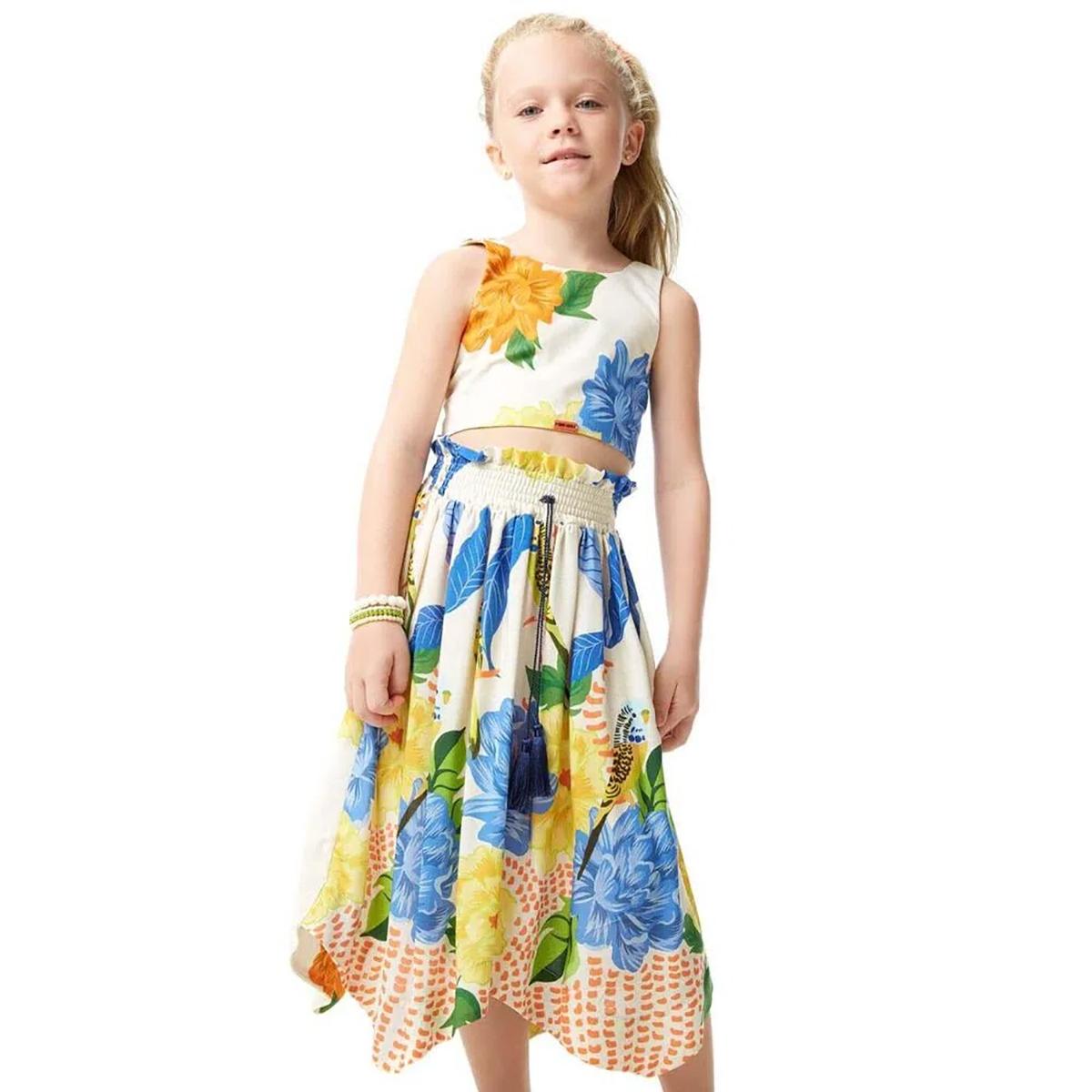 Vestido Camu Camu Feminino Periquito Floral