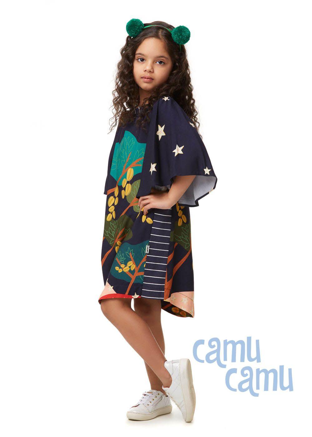 Vestido Camu Camu Curto Feminino Infantil Carambolas